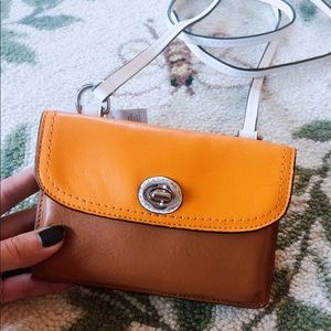 NWT Coach Authentic Leather Wallet w/ Strap